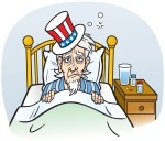 Uncle Sam Sick in Bed