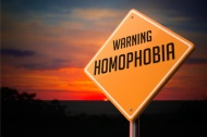 Homophobia on Warning Road Sign.